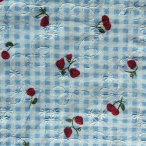 fabric-strawberry check
