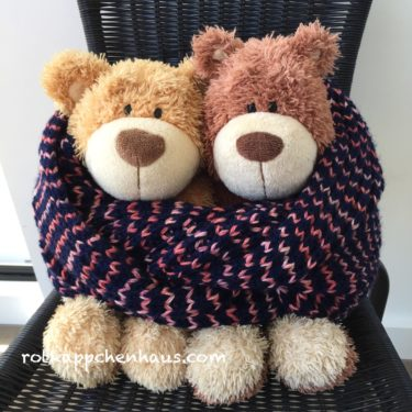 イギリスゴム編みのスヌード 完成♫