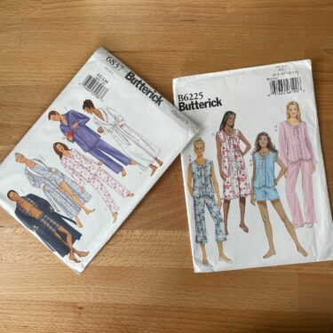 「Butterick」のパターンでパジャマをつくってみよう。