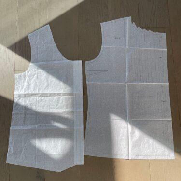 型紙を比べてみよう(Butterickパジャマと日本人デザイナーさん)